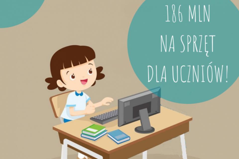 186 mln zł na walkę z wykluczeniem cyfrowym uczniów