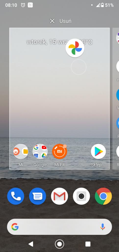 Modyfikacje ekranu głównego na urządzeniu mobilnym